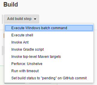 Add build step